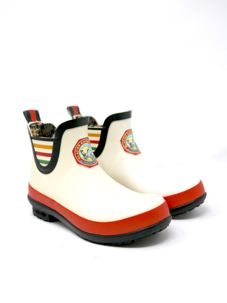 Pendleton Heritage Glacier National Park Rain Boot in White Rubber.