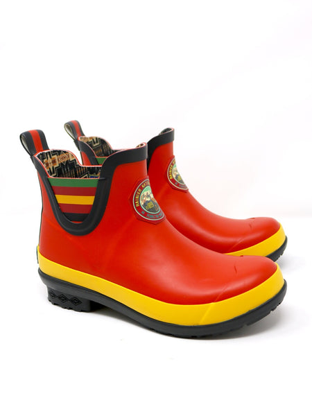 Pendleton Heritage Rainier National Park Rain Boot in Red Rubber.