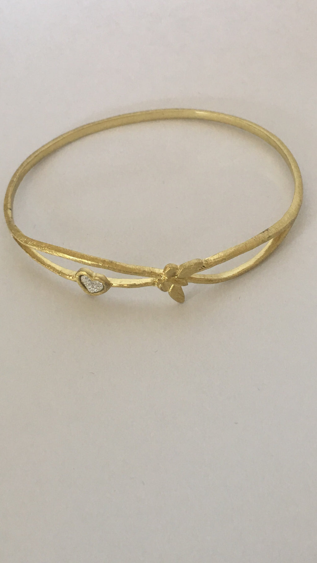 Bracelet Gold Plated with Heart and Butterfly