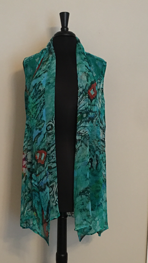 Silk Vest - Swimsuit Cover up. Machine washable. Made in India.