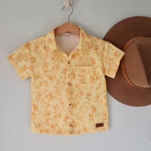 Cassidy ~ Boys Short Sleeve Button Shirt