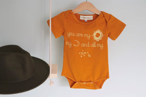 You are my Sun ~ Baby Romper