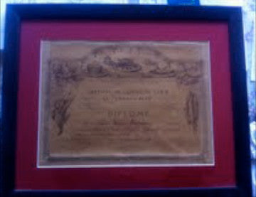 (Signed!)  {Pellaprat, Henri-Paul}  Diploma from Le Cordon Bleu.  Framed.  [1931].