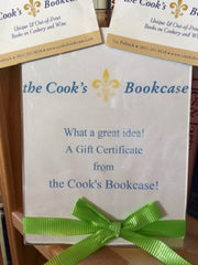 A Gift Card from the Cook's Bookcase! What a great idea!