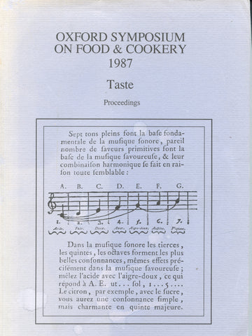Oxford Symposium on Food & Cookery, 1987.  Taste.  [1988].
