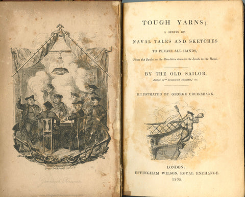 (Cruickshank, George, Illustrator)  Tough Yarns.  By the Old Sailor.  [1835].