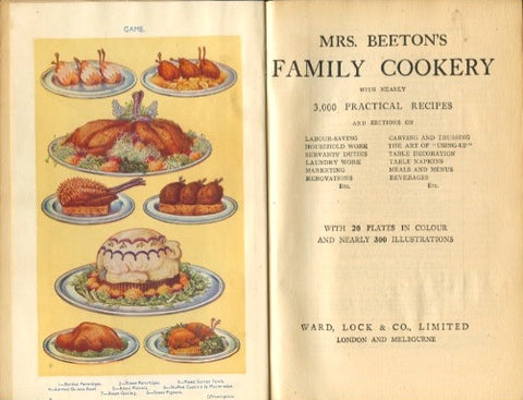 Mrs. Beeton's Family Cookery.  [ca. early 1930's].