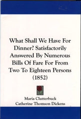 What Shall We Have For Dinner?  1852