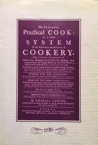 The Complete Practical Cook. By Charles Carter [1984].