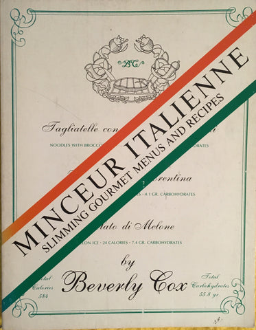 Minceur Italienne. By Beverly Cox. [1979].