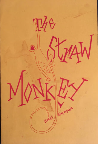 (Cocktail Menu) The Straw Monkey. Hotel Claremont, Berkeley. [ca. late 1950's].