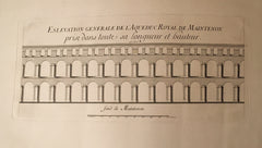 (Engraving) [L'] Eslevation Generale de L'Aqueduc Royal de Maintenon. [1851].