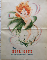 (Menu) The Hurricane. NYC. [ca. 1950's].