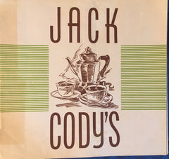 (Menu) Jack Cody's, Portland OR. (1938).