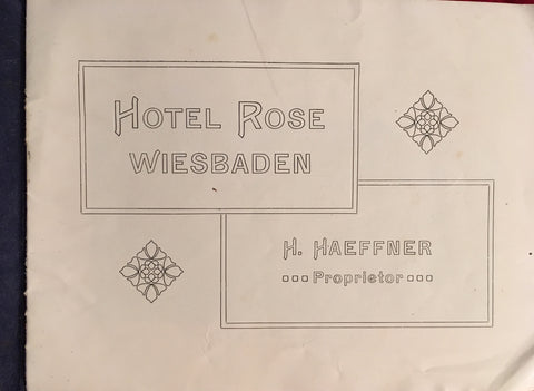 (Travel) Hotel Rose Wiesbaden. [ca. 1910's].