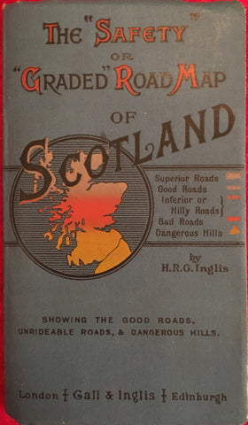 (Travel) The 'Safety' or Graded Road Map of Scotland. [ca. 1910s].