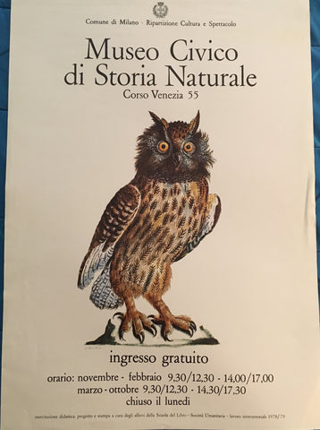 (Poster) Museo Civico. Eurasian eagle-owl, or Bubo Maximus, By Gufo Reale, [1978].