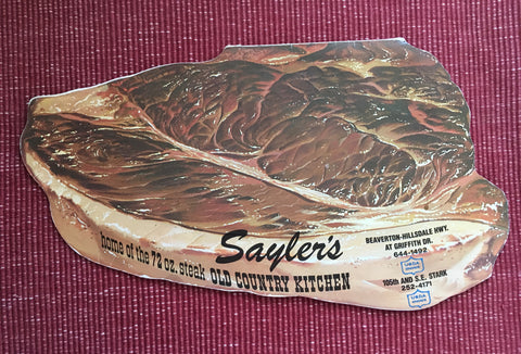 (Menu) Sayler's Old Country Kitchen.  [ca. 1960's].