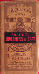 (Travel) Bartholomew's Inverness & Spey. Tourists & Cyclists. [1899].