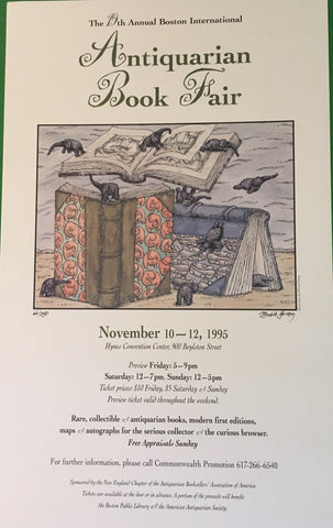 Edward Gorey Signed Color Poster. #66 of 350 copies. [1995].