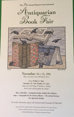 Edward Gorey Signed Color Poster. #66 of 350 copies. 19th Antiquarian Book Fair. Hynes Conv. Ctr., Boston: November 10-12, 1995.