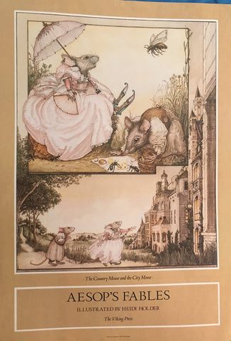 (Poster) Aesop's Fables. Illustrated by Heidi Holder. [1981].