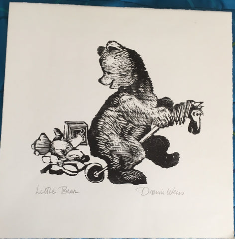 (Print) Little Bear. Illustration by Dianne Weiss. [ca. 1990's].