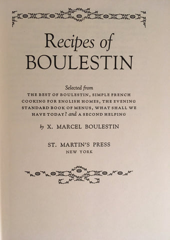 (French) Recipes of Boulestin. [1971].