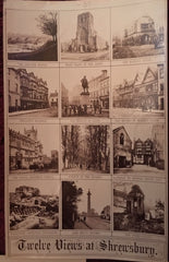 Five Antique Photograph Views. Shrewsbury, England. [ca. 1900's].