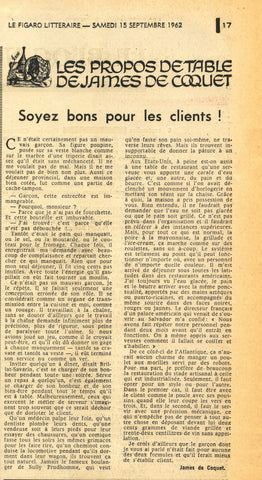 Le Figaro Littéraire.  27 Issues from 1956 - 1962.
