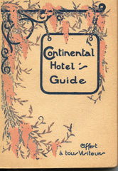 The Hotel Continental Guide to Paris,  1934.