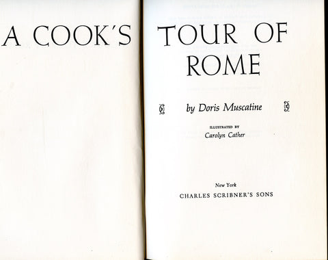 Inscribed!  A Cook's Tour of Rome.  [1964]
