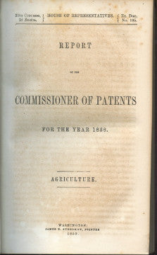 Report of the Commissioner of Patents, Grape and Wine Culture in California.  [1858]