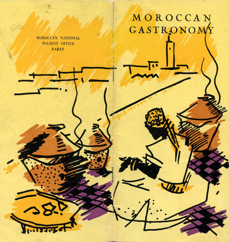 Moroccan Gastronomy.  Madame Guinaudeau.  Illustrations by J. E. Laurent.  [1970's].