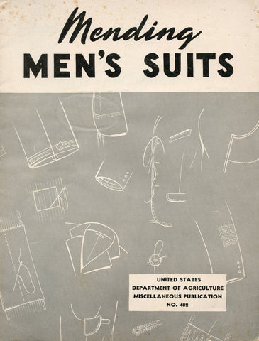 (Laundry)  Mending Men's Suits.  By Clarice L. Scott.  [1946].