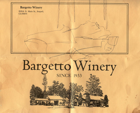 (Wine List)  {Soquel, CA}  Bargetto Winery.  [1977].