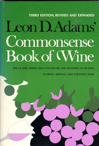(Inscribed!)  {Wine}  Commonplace Book of Wine.  By Leon D. Adams.  [1975].