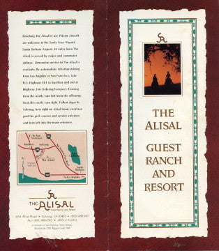 (Travel)  {Calif.}  Alisal Guest Ranch.  [ca-1990's].