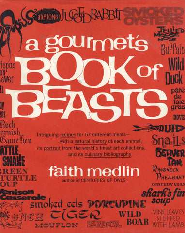 (Game)  A Gourmet's Book of Beasts.  By Faith Medlin.  [1975].