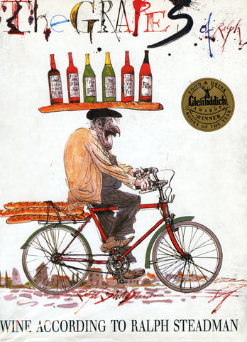 (Wine)  The Grapes of Ralph.  Wine According to Ralph Steadman.  [1992].