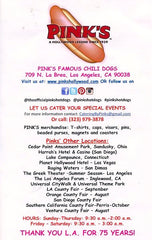 Pink's Famous Chili Dogs. 2014
