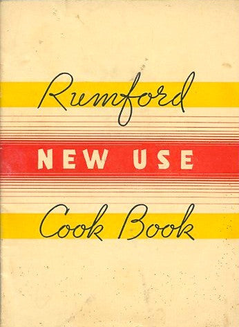 {Baking Powder} Rumford New Use Cook Book.  [1935].