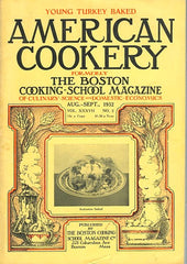 (Periodical) American Cookery. [Aug. - Sept., 1932].
