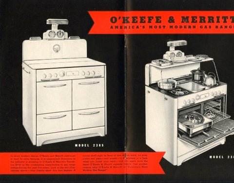 O'Keefe & Merritt Cook Book.  [1941].