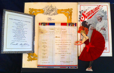 (The Poodle Dog Restaurant, San Francisco)  Group of 23 Pieces of Ephemera.  [1908 - 1930's].