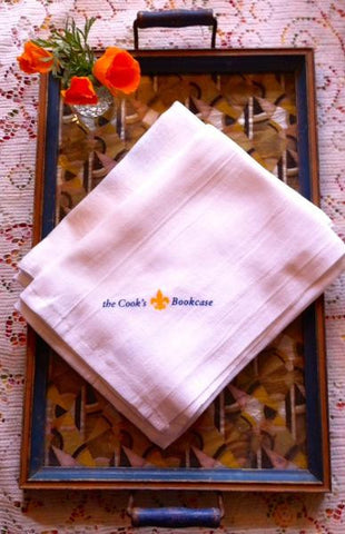 "(Classic Bar Towel)  Custom-made for the Cook's Bookcase: 100% cotton, 38"" x 30"", perfect for your kitchen!"