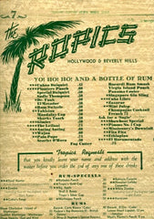 The Tropics 1940's Beverly Hills