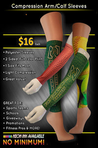 Dye-Sublimation Compression Arm/Calve Sleeve