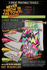 Dye-Sublimation Custom Towels