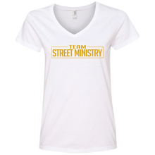 Load image into Gallery viewer, Team Street Ministry White w/Gold - Ladies